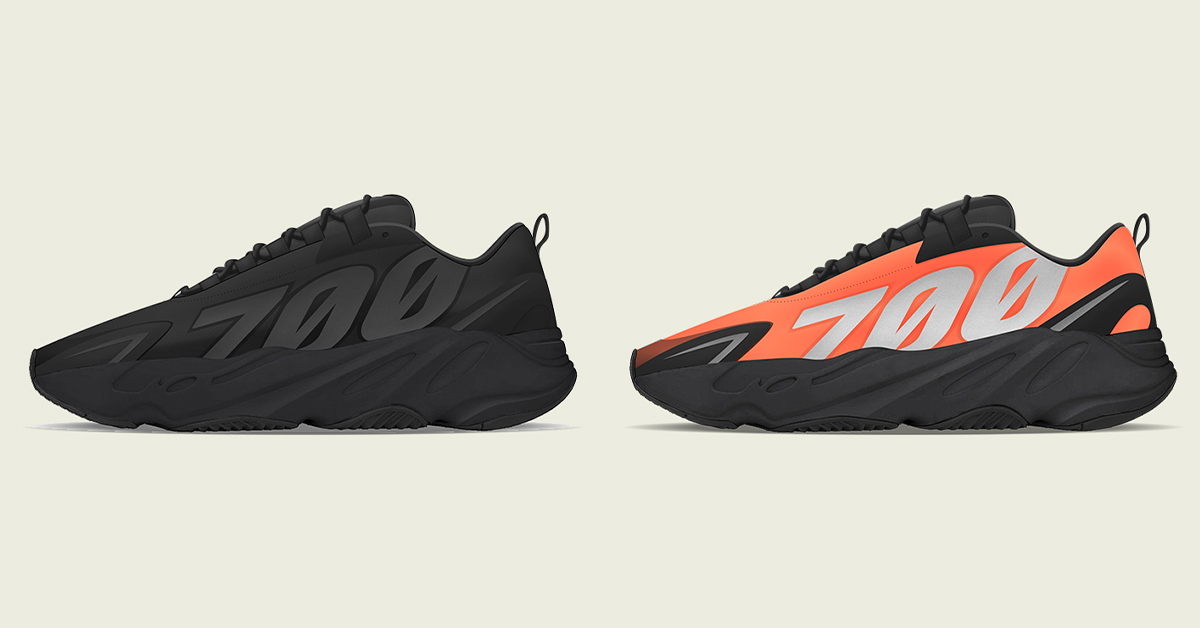 "YEEZY BOOST 700 MNVN ""Orange"" and ""Triple Black"""