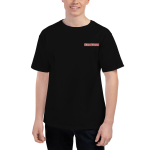 Ethan Wrenn Embroidered Red Box-Logo Men's Champion T-Shirt