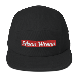 Ethan Wrenn Embroidered Red Box-Logo 5 Panel Camper
