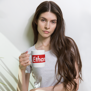 Ethan Wrenn Red Box-Logo Mug